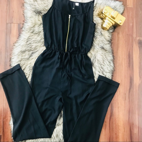 61f9c7ed87aa H M Pants - H M Black Jumpsuit
